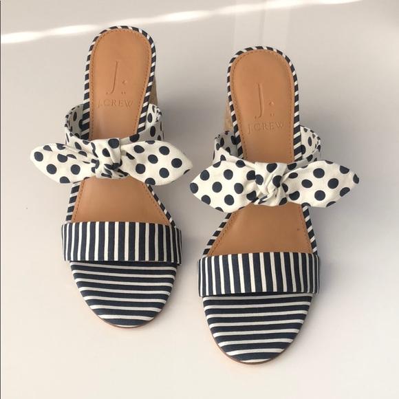 J. Crew Shoes - NIB J.Crew Raffia Round Block-Heel Sandals (7)